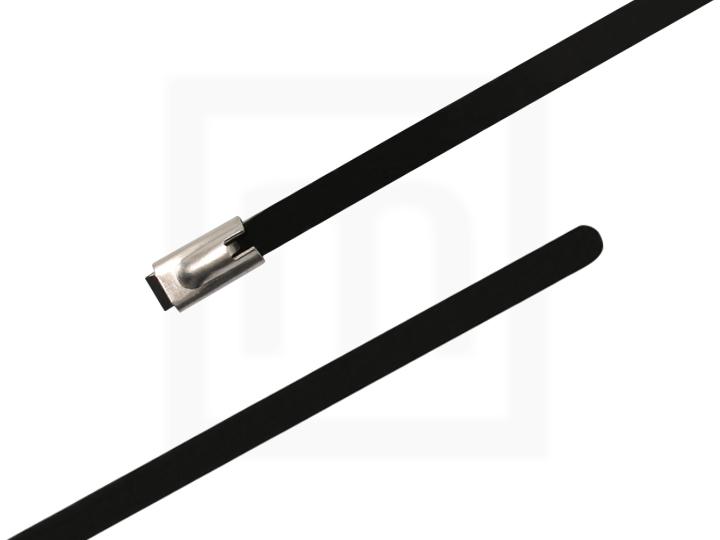 Edelstahlkabelbinder mit Beschichtung, 4,6 x 350 mm 100 Stück