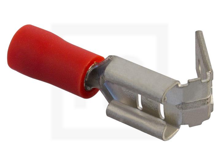Flachsteckhülsen mit Abzweig, 0,5 - 1,5 mm² 6,3 mm rot, 100 Stück