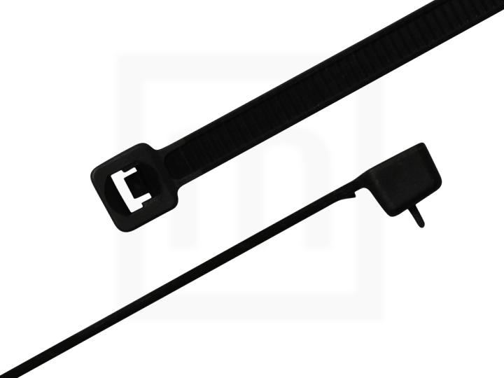 Kabelbinder wiederlösbar, 4,8 x 200 mm schwarz, 100 Stück