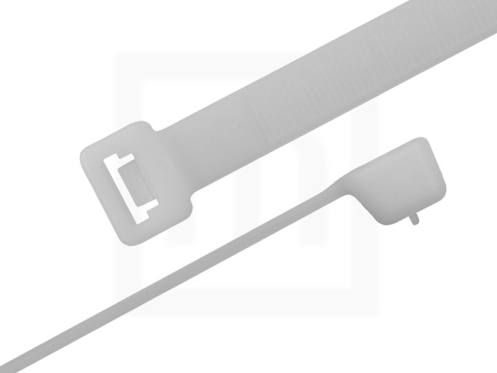 Kabelbinder wiederlösbar, 4,8 x 530 mm natur, 100 Stück