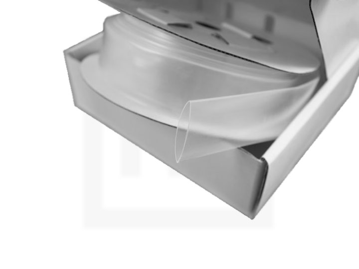 Schrumpfschlauch-Box, 1,2 mm transparent, 20 m