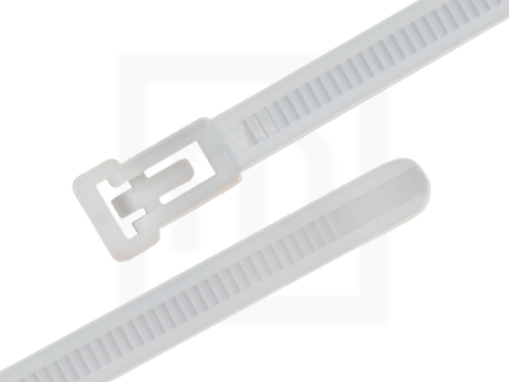 Kabelbinder wiederlösbar, 7,5 x 250 mm natur, 100 Stück