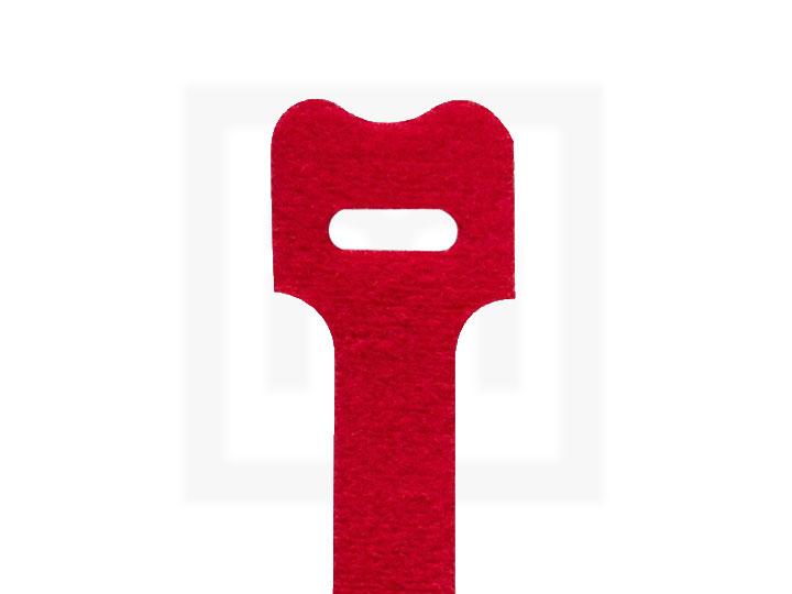 Klettbinder, 12,5 x 205 mm rot, 20 Stück