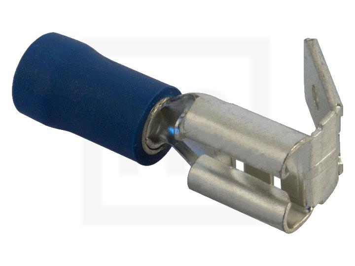 Flachsteckhülsen mit Abzweig, 1,5 - 2,5 mm² 6,3 mm blau, 100 Stück