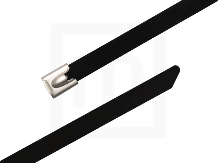 Edelstahlkabelbinder mit Beschichtung, 7,8 x 350 mm 100 Stück