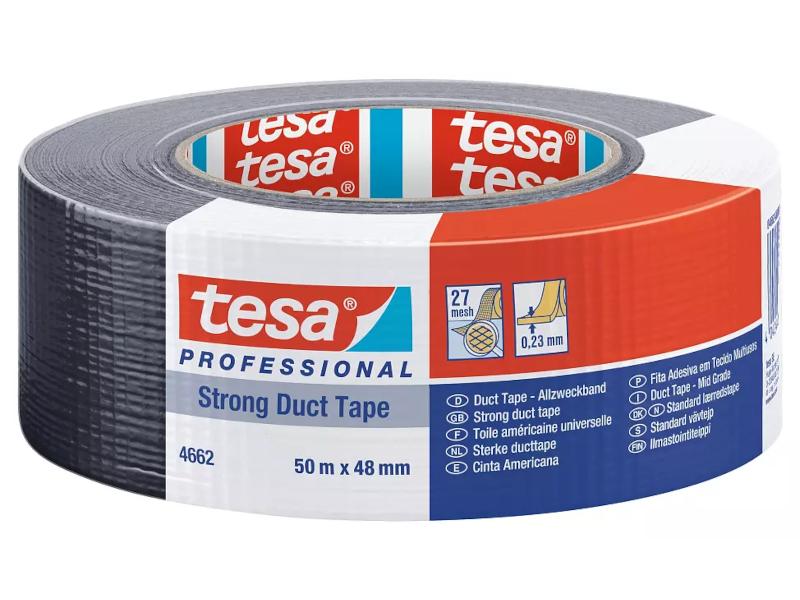 tesa® klebstarkes und wasserfestes Allzweck-Gewebeband, 48 mm x 50 m