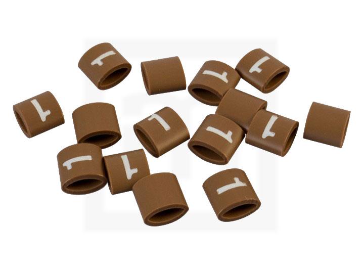 Bezeichnungsringe, 4,2 - 6,6 mm braun, 100 Stück
