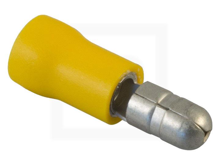 Rundstecker, 2,5 - 6,0 mm² gelb, 100 Stück