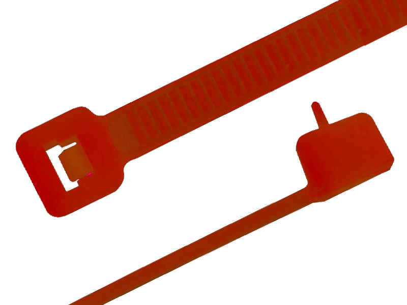 Kabelbinder wiederlösbar, 4,8 x 200 mm rot, 100 Stück