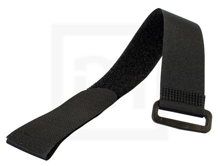 Klettbinder mit Umlenköse, 20 x 200 mm schwarz, 10 Stück