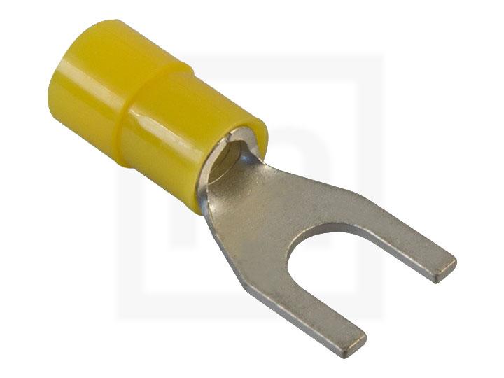 Gabelkabelschuhe, 2,5 - 6,0 mm² M6 gelb, 100 Stück
