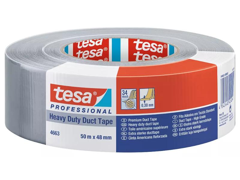 tesa® reißfestes und klebstarkes Bauklebeband, 48 mm x 50 m