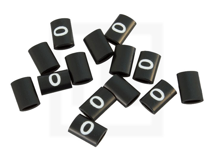 Bezeichnungsringe, 4,2 - 6,6 mm schwarz, 100 Stück