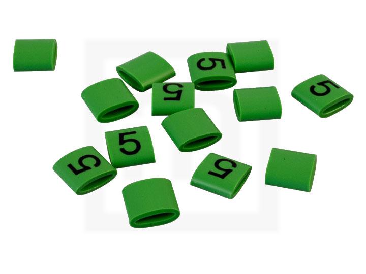 Bezeichnungsringe, 4,2 - 6,6 mm grün, 100 Stück