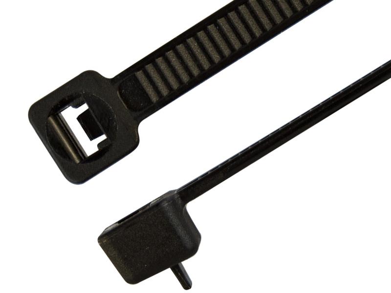 Kabelbinder wiederlösbar, 4,8 x 370 mm schwarz, 100 Stück