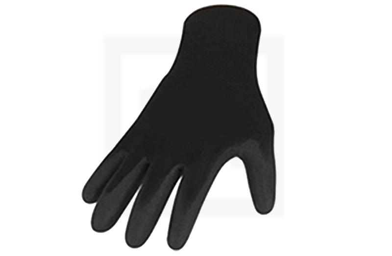 Handschuhe mit PU-Beschichtung - schwarz, Gr. 7