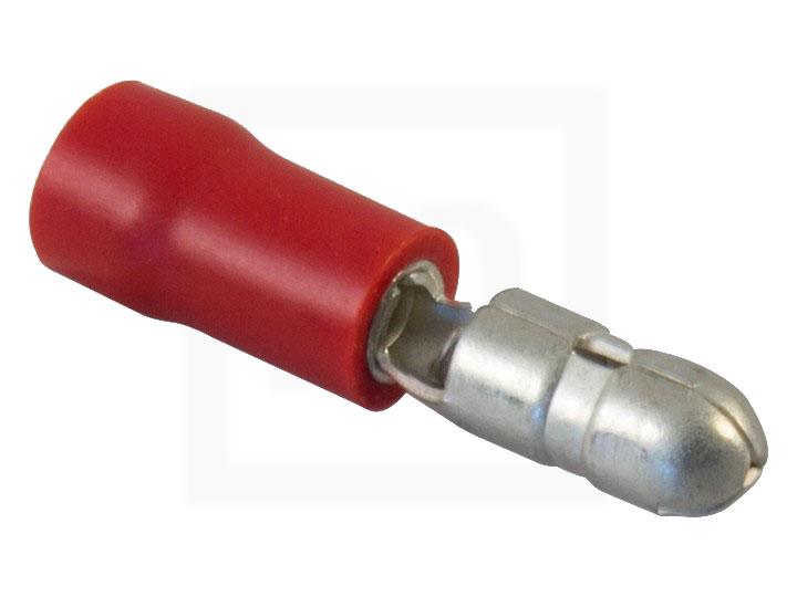 Rundstecker, 0,5 - 1,5 mm² rot, 100 Stück