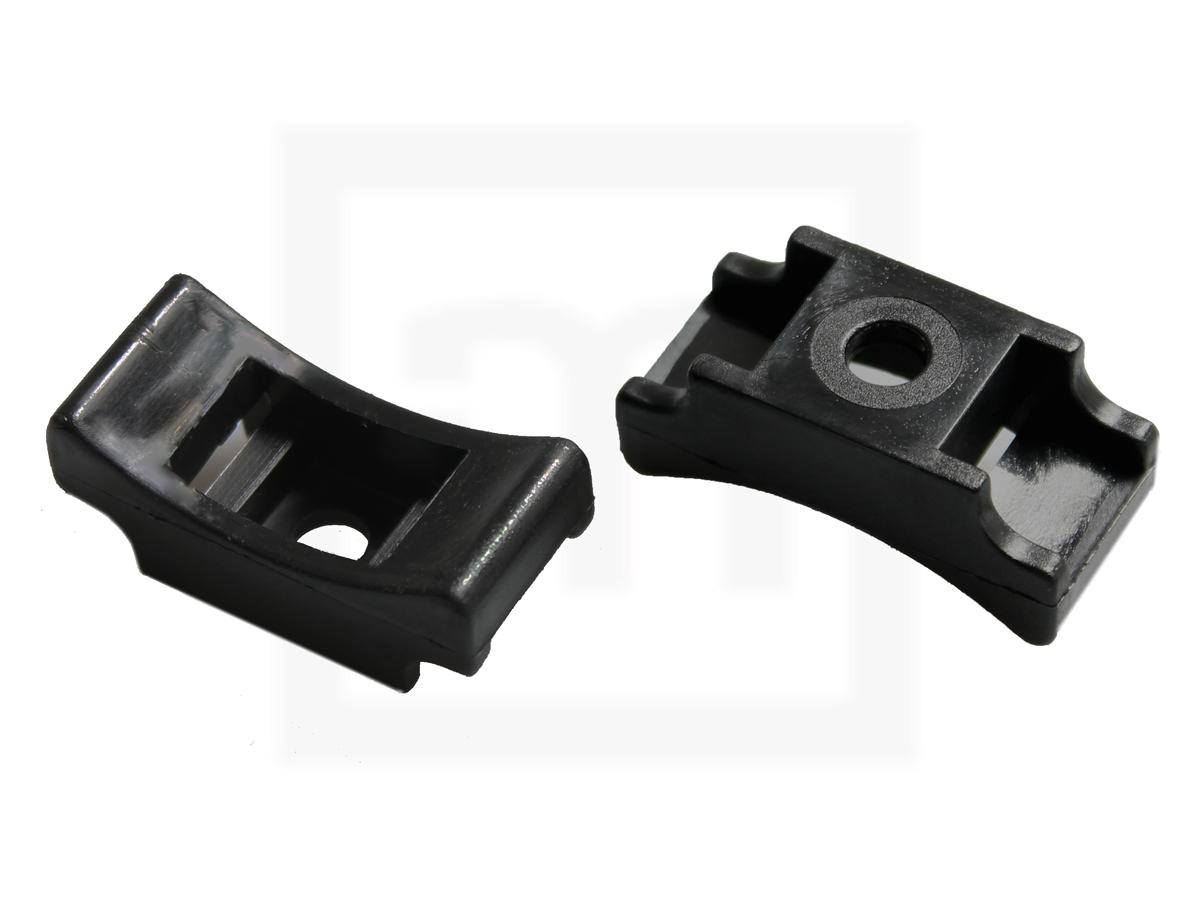 Schraubsockel für KB bis, 13 mm schwarz, 100 Stück