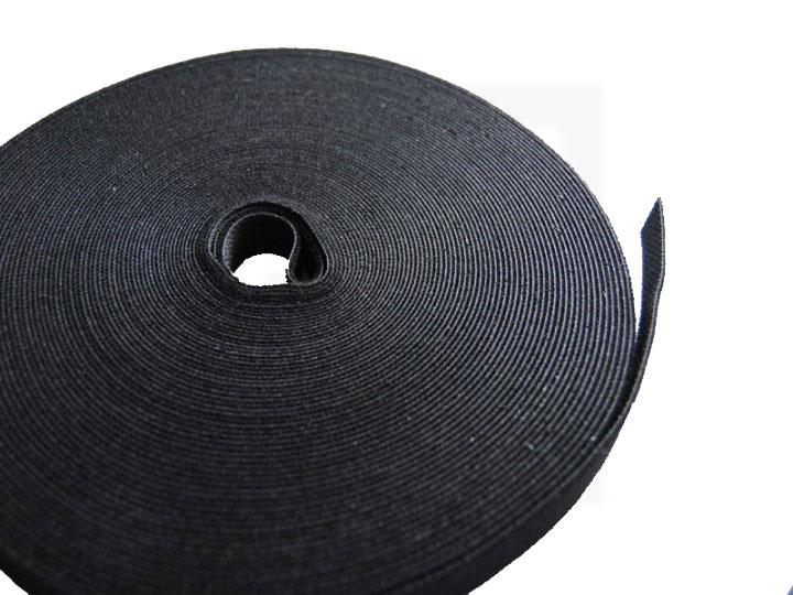 Klettbandrolle, 10 mm x 25 m schwarz, 1 Stück