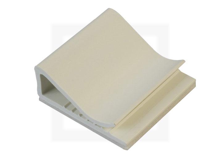 Flachband-Kabelhalter, 25 x 26 mm natur, 100 Stück