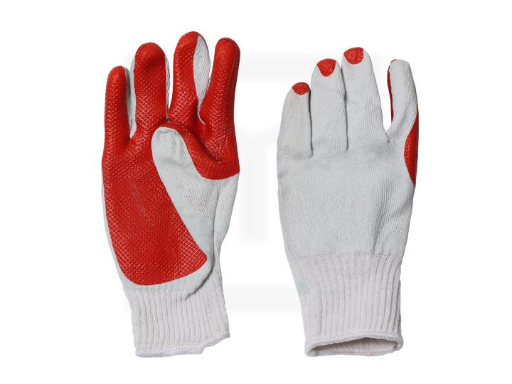 Handschuhe mit Latexbeschichtung - rot, Gr. 10,5