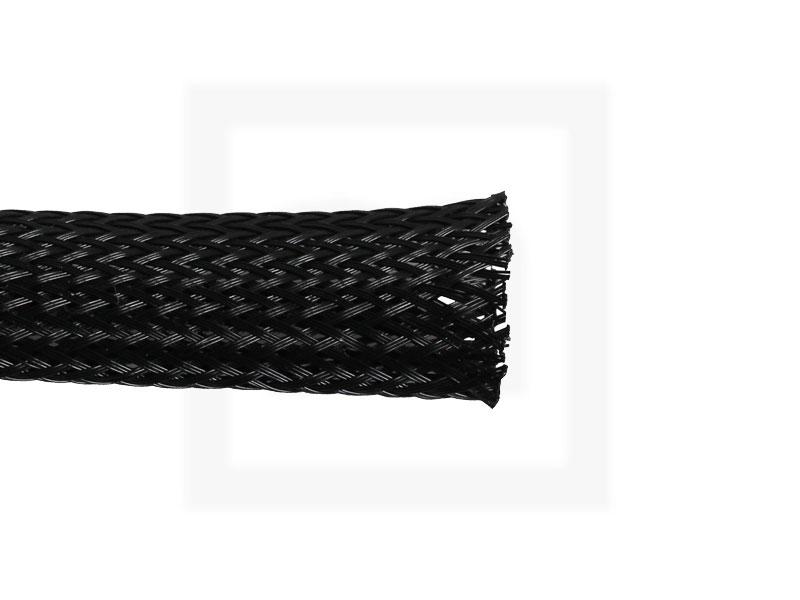 Geflechtschlauch, 12 mm schwarz, 10 Meter