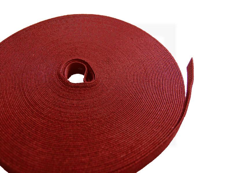 Klettbandrolle, 10 mm x 25 m rot, 1 Stück