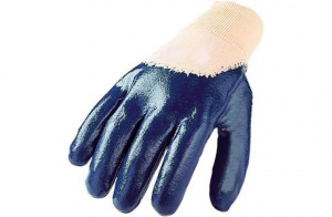 Handschuhe mit Nitrilbeschichtung - blau, Gr. 7