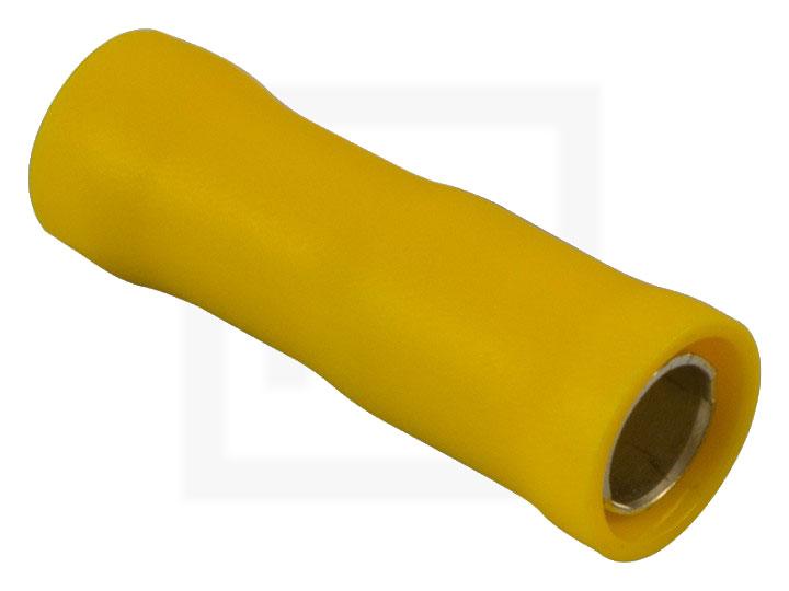 Rundsteckhülsen, 2,5 - 6,0 mm² 4 mm gelb, 100 Stück