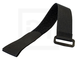 Klettbinder mit Umlenköse, 38 x 500 mm schwarz, 10 Stück