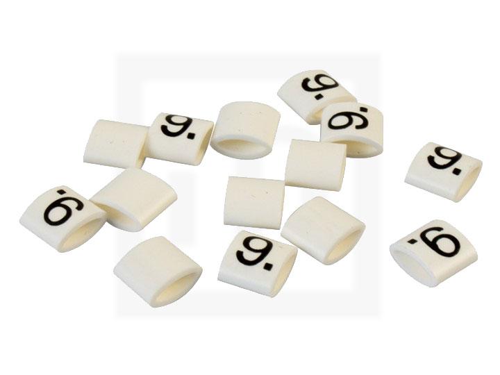 Bezeichnungsringe, 2,3 - 3,4 mm weiß, 100 Stück