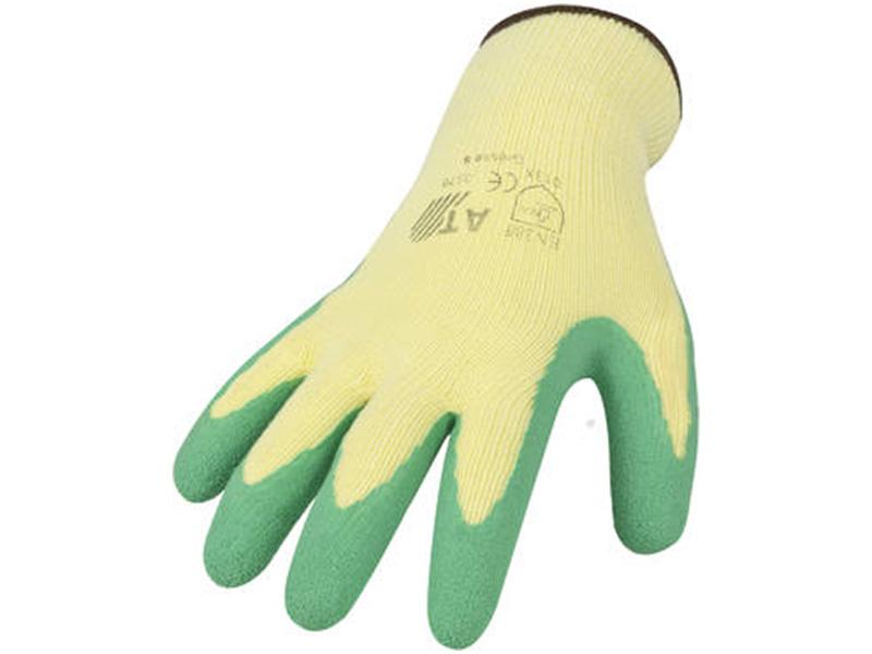 Handschuhe mit Latexbeschichtung - grün, Gr. 10,5
