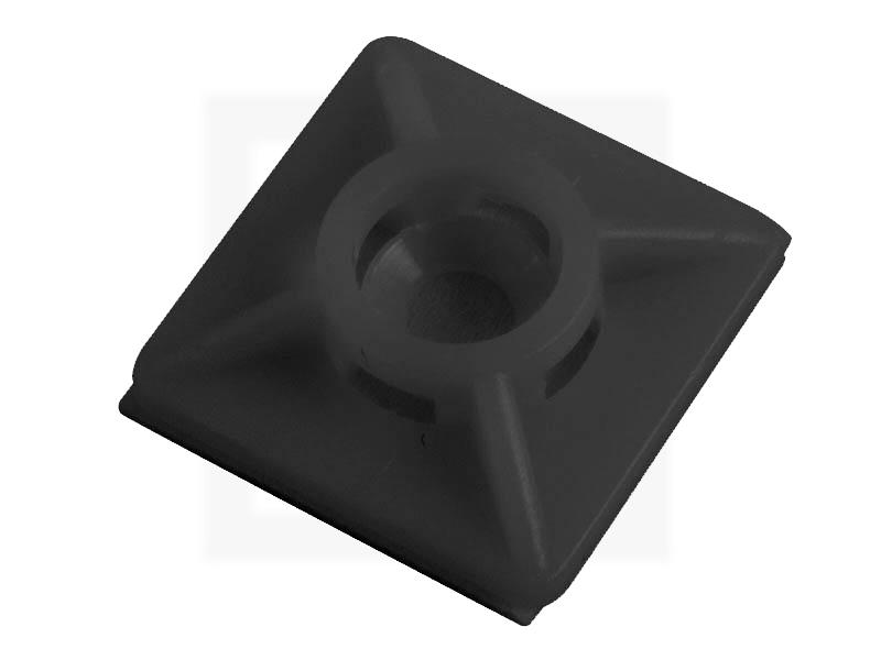 Klebesockel, 27 x 27 mm schwarz, 100 Stück